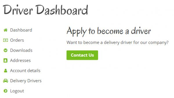 Delivery Drivers for WooCommerce Driver Application Page