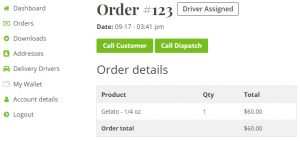 Delivery Drivers for WooCommerce - Order Details