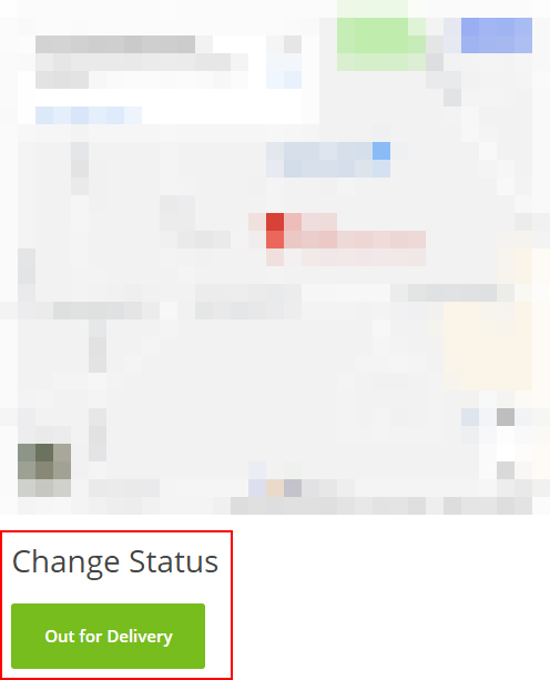 Delivery Drivers - Out for Delivery status