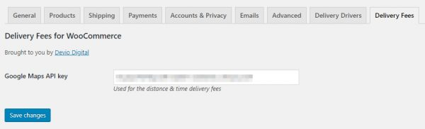 Delivery Fees for WooCommerce Pro Settings Tab